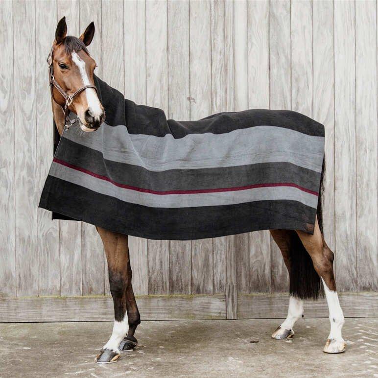 Kentucky Heavy Fleece Rug - black/grey (210*200)