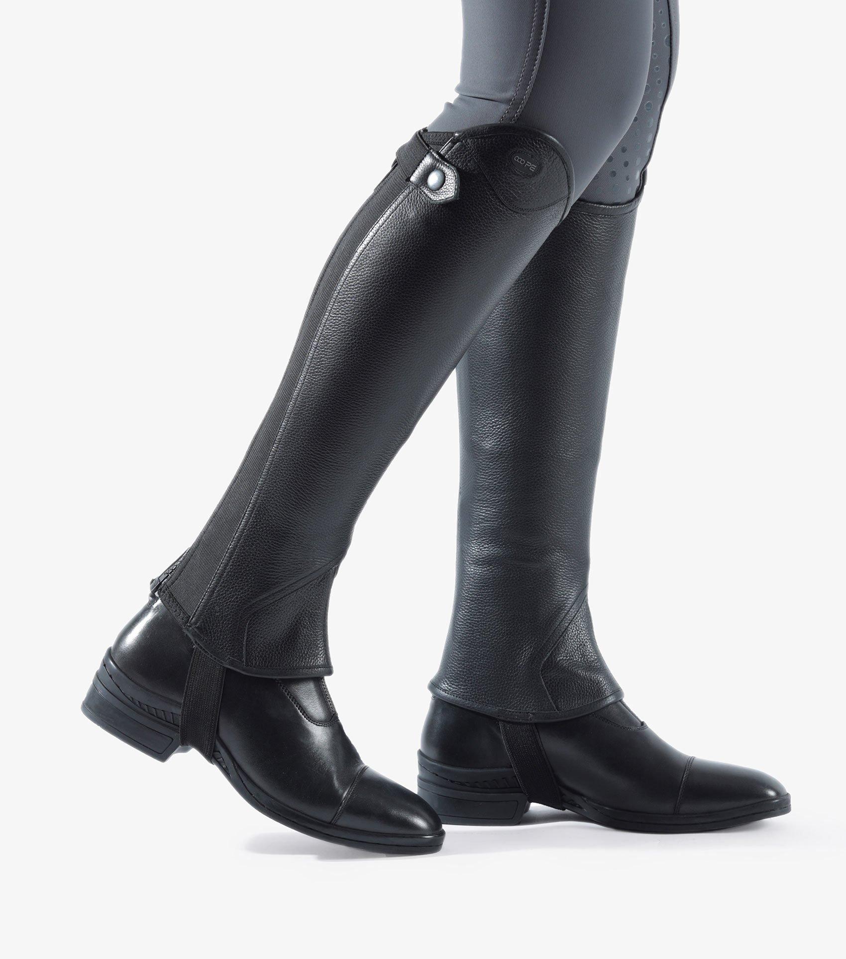 Lexaria Ladies Leather Half Chaps - voksne - svart