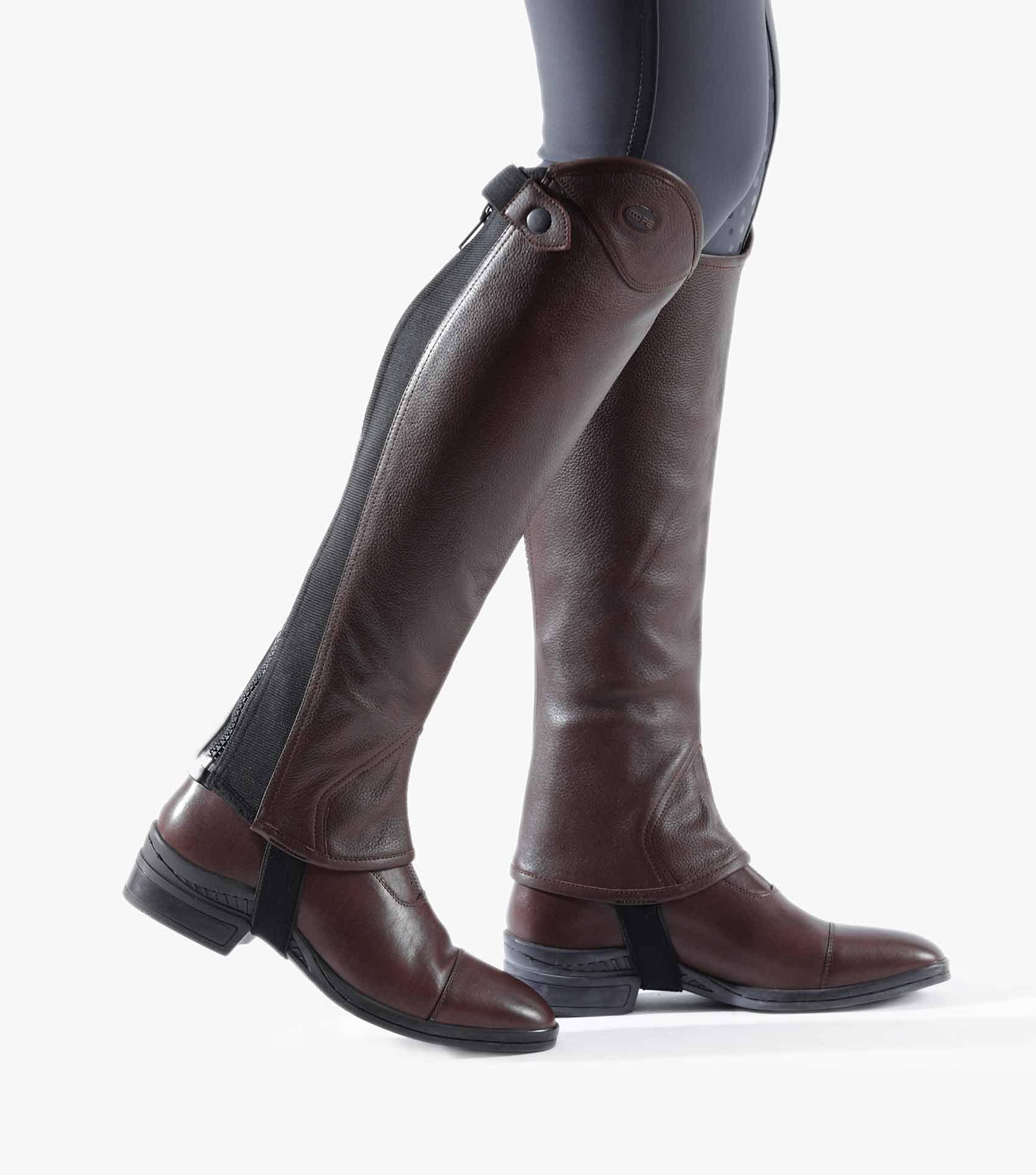 Lexaria Ladies Leather Half Chaps - voksne - brun