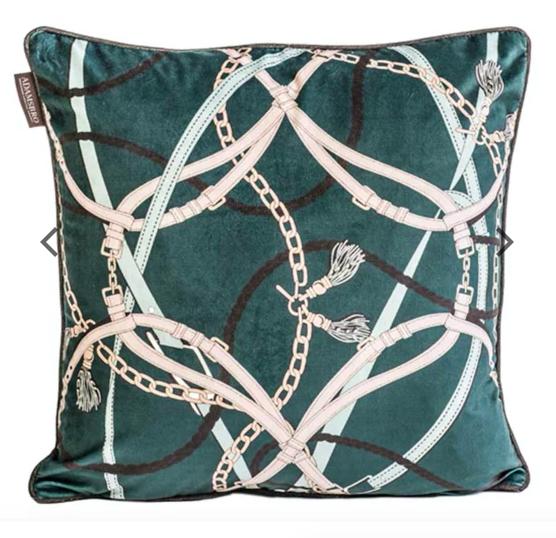 Jade Chain Velvet Pillow - Adamsbro